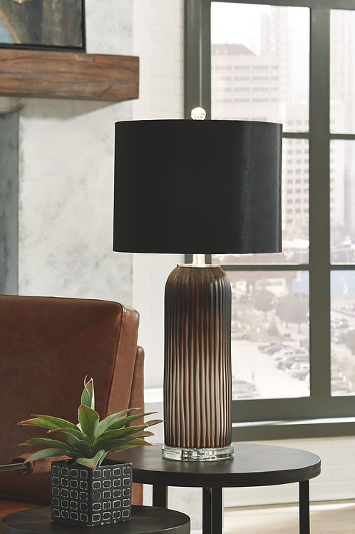 Abaness - Black - Glass Table Lamp (2/CN)