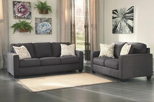 Alenya - Charcoal - Sofa & Loveseat