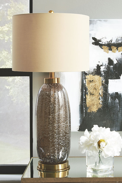 Aaronby - Taupe - Glass Table Lamp (2/CN)