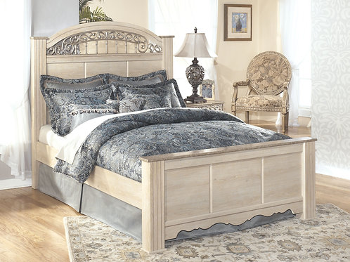 Catalina - Antique White - King Poster Bed