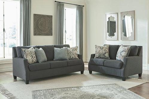 Bayonne - Charcoal - 2 Pc. - Sofa, Loveseat
