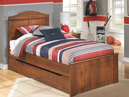 Barchan - Medium Brown - Twin Panel Bed with Trundle