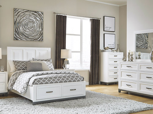 Brynburg - White - 5 Pc. - Dresser, Mirror & Full Panel Bed