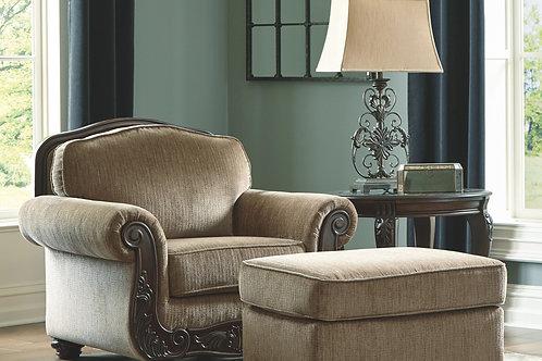 Briaroaks - Mocha - Chair with Ottoman