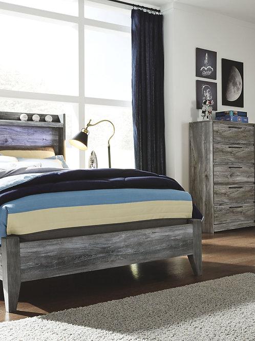 Baystorm - Gray - 6 Pc. - Dresser, Mirror, Full Panel Bed & 2 Nightstands
