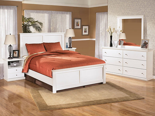 Bostwick Shoals - White - 5 Pc. - Dresser, Mirror & Queen Panel Bed