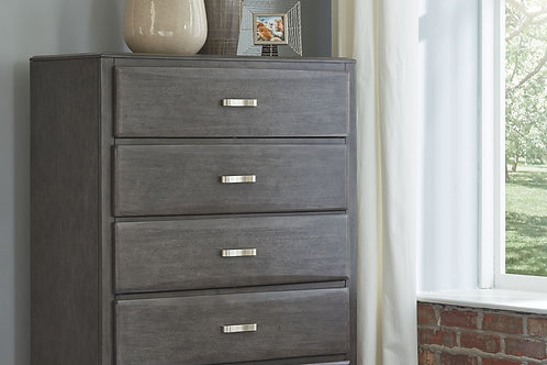 Caitbrook - Gray - Five Drawer Chest