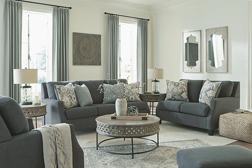 Bayonne - Charcoal - 4 Pc. - Sofa, Loveseat, Chair, Ottoman