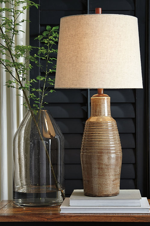 Calixto - Taupe - Terracotta Table Lamp (1/CN)
