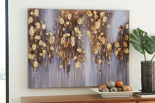 Donier - Blue/Gold Finish - Wall Art