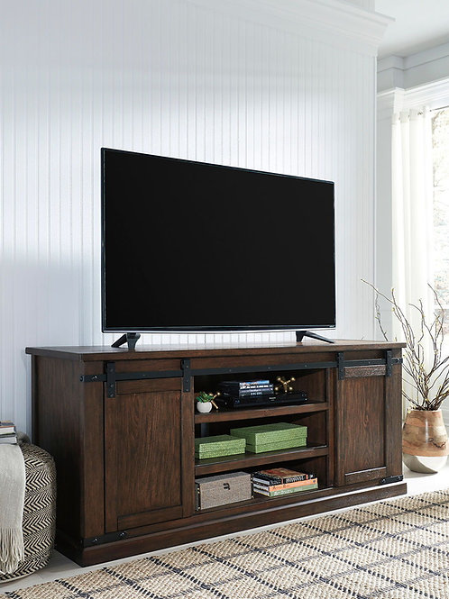 Budmore - Rustic Brown - Extra Large TV Stand