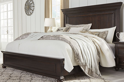 Brynhurst - Dark Brown - King Panel Bed