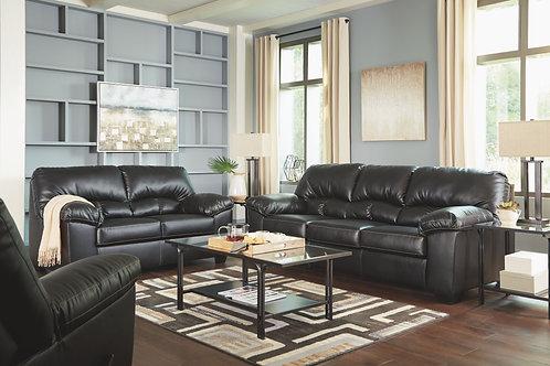 Brazoria - Black - Sofa, Loveseat & Recliner