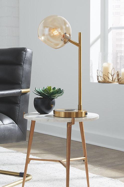Abanson - Amber/Gold Finish - Metal Desk Lamp (1/CN)