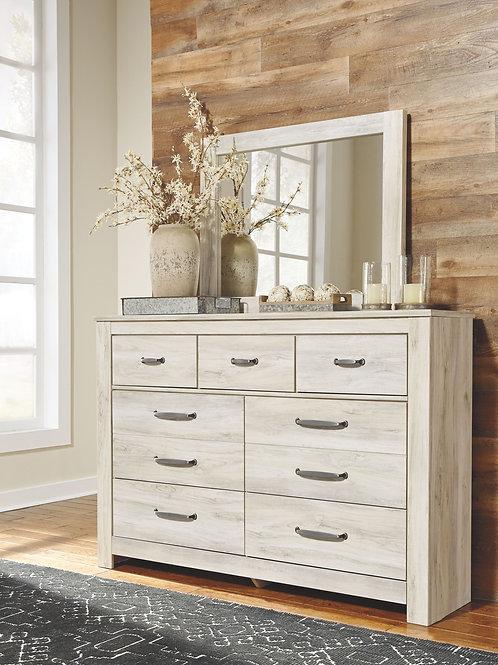Bellaby - Whitewash - Dresser & Mirror
