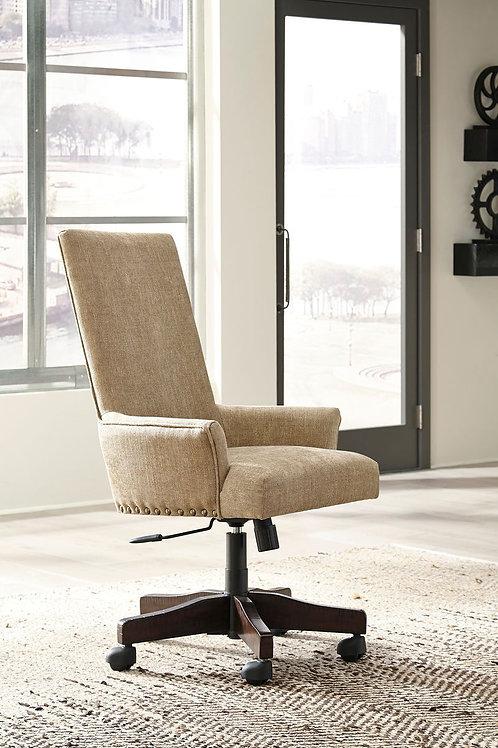 Baldridge - Light Brown - UPH Swivel Desk Chair