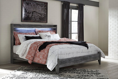 Baystorm - Gray - 2 Pc. - King Panel Bed