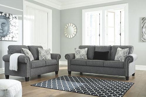Agleno - Charcoal - Sofa & Loveseat