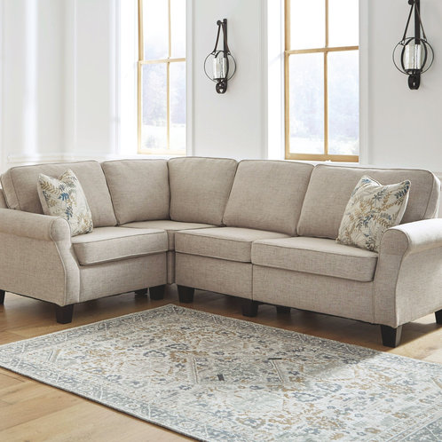 Alessio - Beige - 4 Pc. - Sofa, Wedge, Armless Chair, Loveseat Sectional