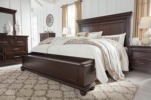 Brynhurst - Dark Brown - Queen Panel Bed with Storage