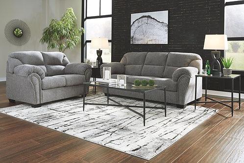 Allmaxx - Pewter - Sofa, Loveseat & Augeron Table Set