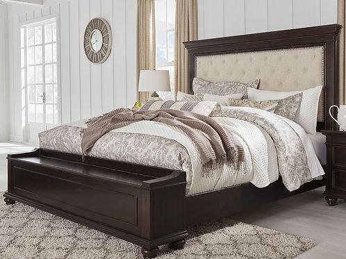 Brynhurst - Dark Brown - Queen UPH Bed with Storage