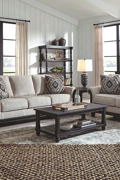 Benbrook - Ash - Sofa, Loveseat & Mallacar Table Set