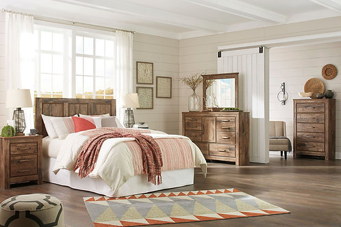 Blaneville - Brown - 4 Pc. - Dresser, Mirror, Chest & Queen Panel Headboard