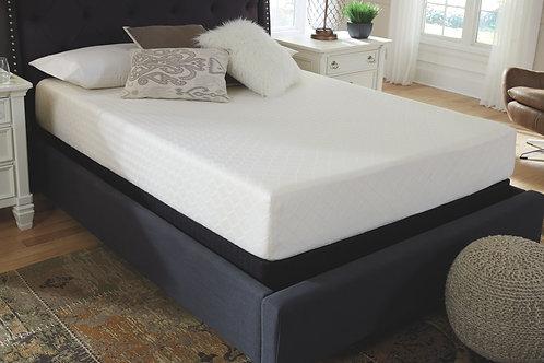 10 Inch Chime Memory Foam - White - Twin Mattress & Foundation
