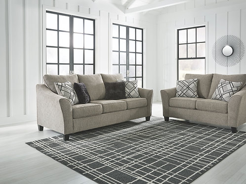 Barnesley - Platinum - Sofa & Loveseat