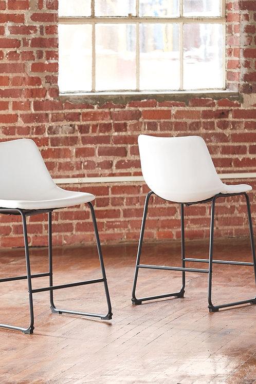 Centiar - White - Upholstered Barstool