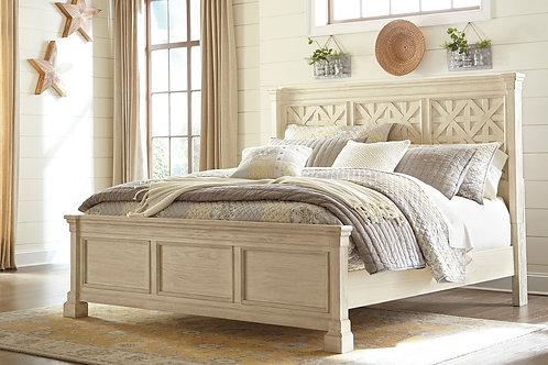 Bolanburg - Antique White - King Panel Bed