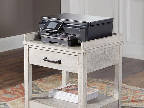 Carynhurst - Whitewash - Printer Stand
