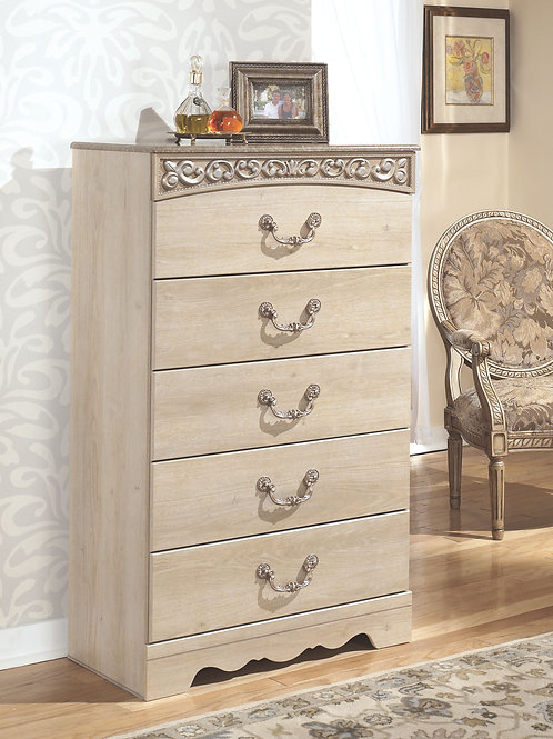 Catalina - Antique White - Five Drawer Chest