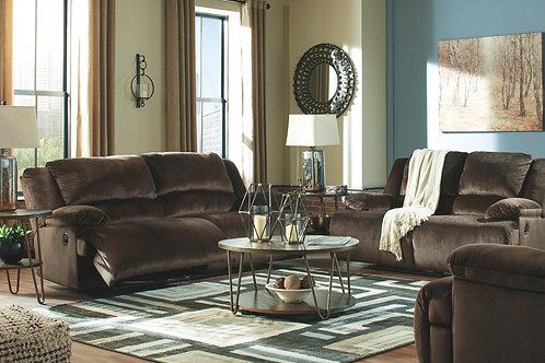 Clonmel - Chocolate - REC Sofa, REC Loveseat & Zero Wall Wide Seat Recliner