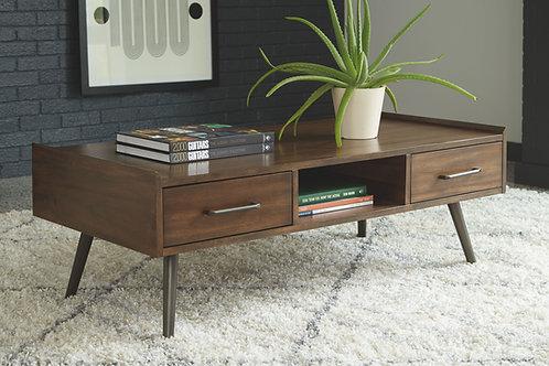 Calmoni - Brown - Rectangular Cocktail Table