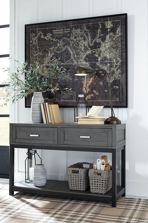 Caitbrook - Gray/Black - Sofa Table