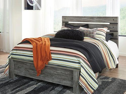 Cazenfeld - Black/Gray - Queen Panel Bed