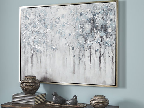 Breckin - Blue/Gray/White - Wall Art