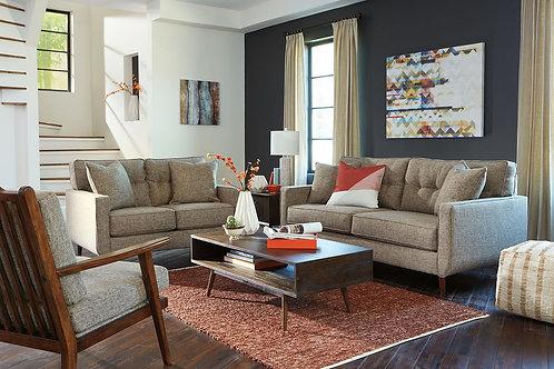 Dahra - Jute - Sofa, Loveseat, Accent Chair, Kisper Cocktail Table & End Table