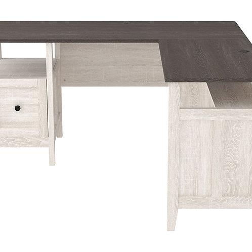 Dorrinson - Two-tone - 2-Piece Home Office Desk