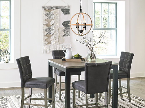 Dontally - Two-tone - 5 Pc. - SQ DRM Counter Table & 4 UPH Barstools