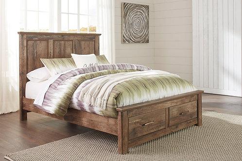 Blaneville - Brown - Queen Storage Bed