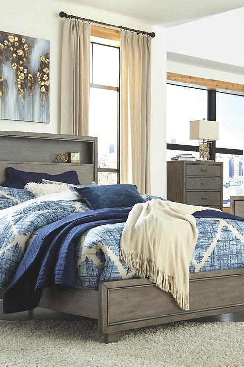 Arnett - Gray - 6 Pc. - Dresser, Mirror, Queen Storage Bed & 2 Nightstands