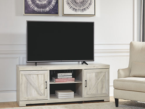 Bellaby - Whitewash - LG TV Stand w/Fireplace Option