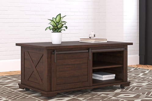Camiburg - Warm Brown - Rectangular Cocktail Table