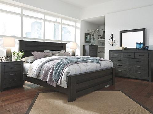 Brinxton - Black - 6 Pc. - Dresser, Mirror, Chest & King Panel Bed