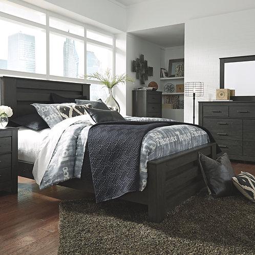 Brinxton - Black - 6 Pc. - Dresser, Mirror, Chest & Queen Panel Bed