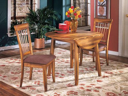 Berringer - Rustic Brown - Round DRM Drop Leaf Table
