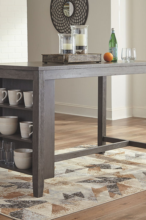 Caitbrook - Gray - RECT Dining Room Counter Table